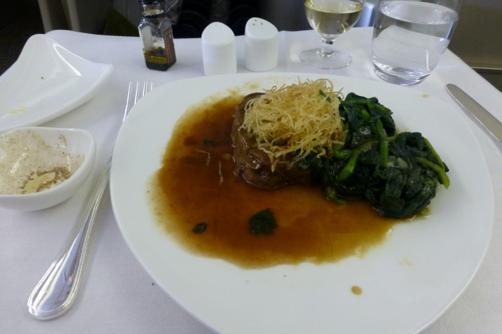 Rossini Beef Tenderloin with Deep Fried Potato and Madeira Jus