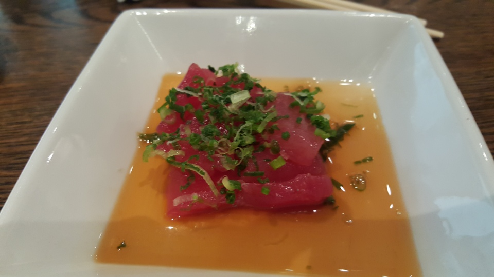 First real course - Tuna Sashimi