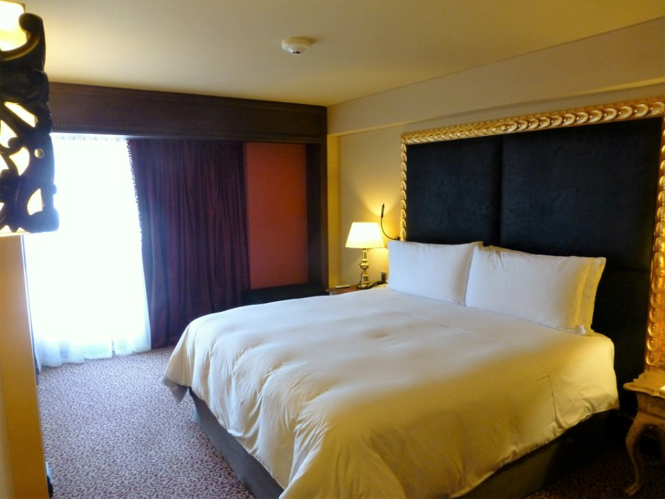 The bedroom of our suite with what seems to be a larger than normal King Sized Bed