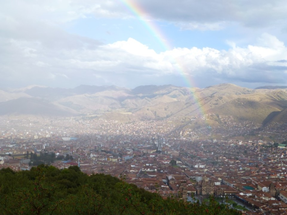 Beautiful Rainbow over the City