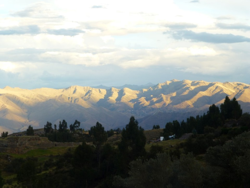 Twilight view of the Andes