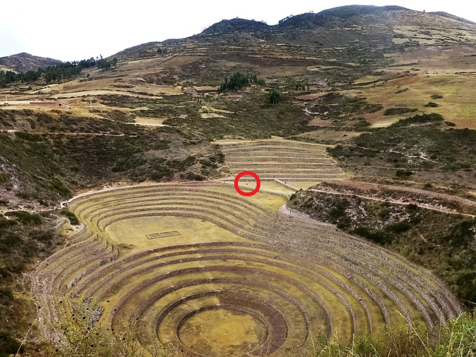 This place was HUGE. The people relaxing in the previous picture are in the red circle.