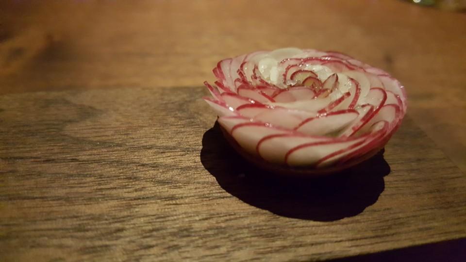 Radish Tartlette - maitre d'hotel butter, fleur de sel
