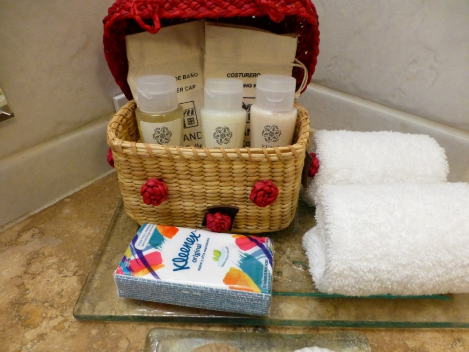 The complementary toiletries