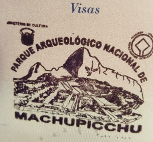 Machu PIcchu Passport STamp