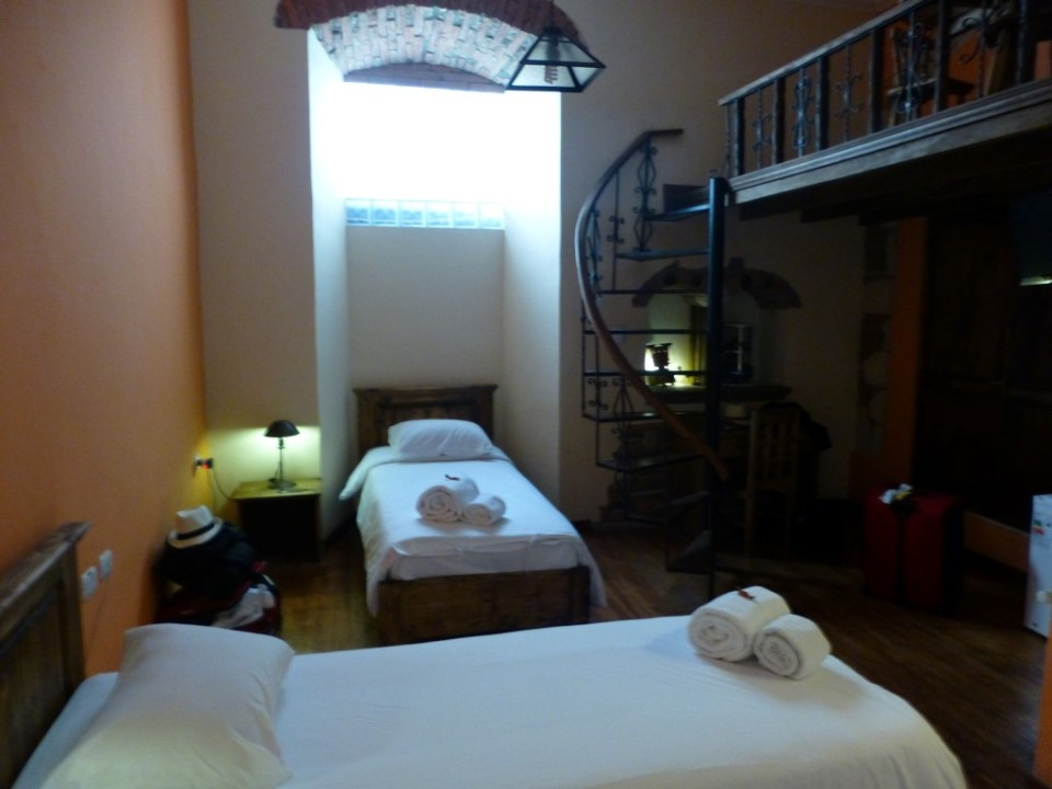 View of our double room in La Paz.