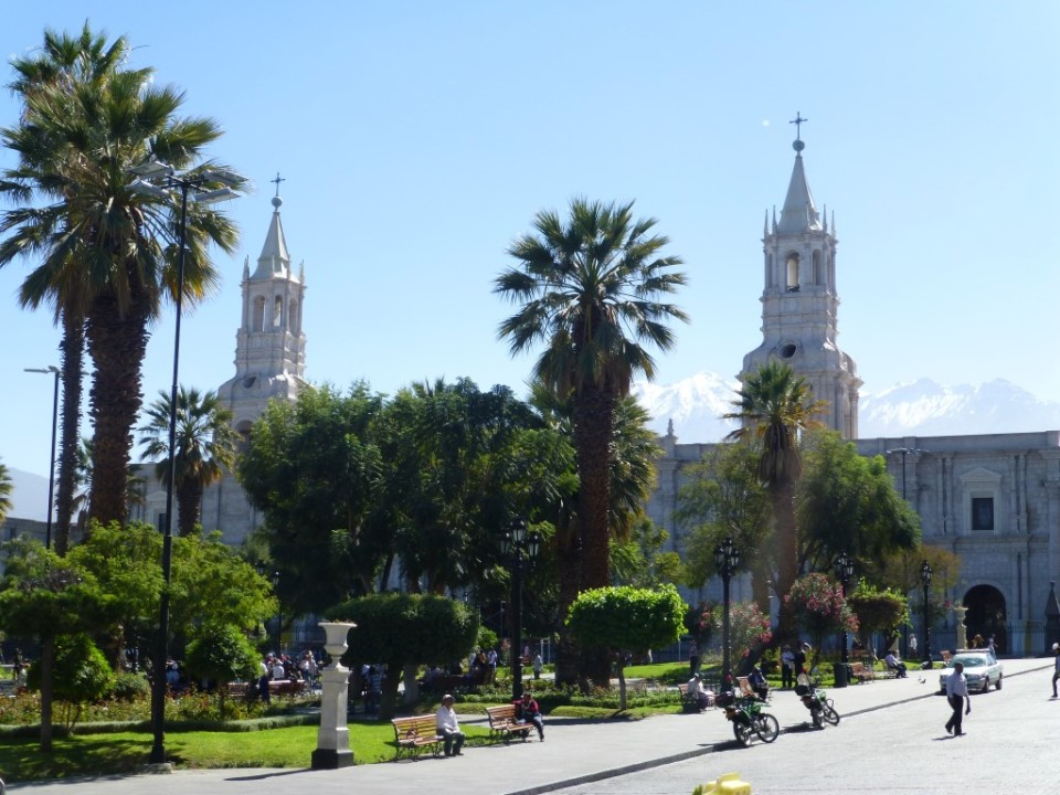 Plaza de Armas - a vibrant square in the heart of Arequipa.
