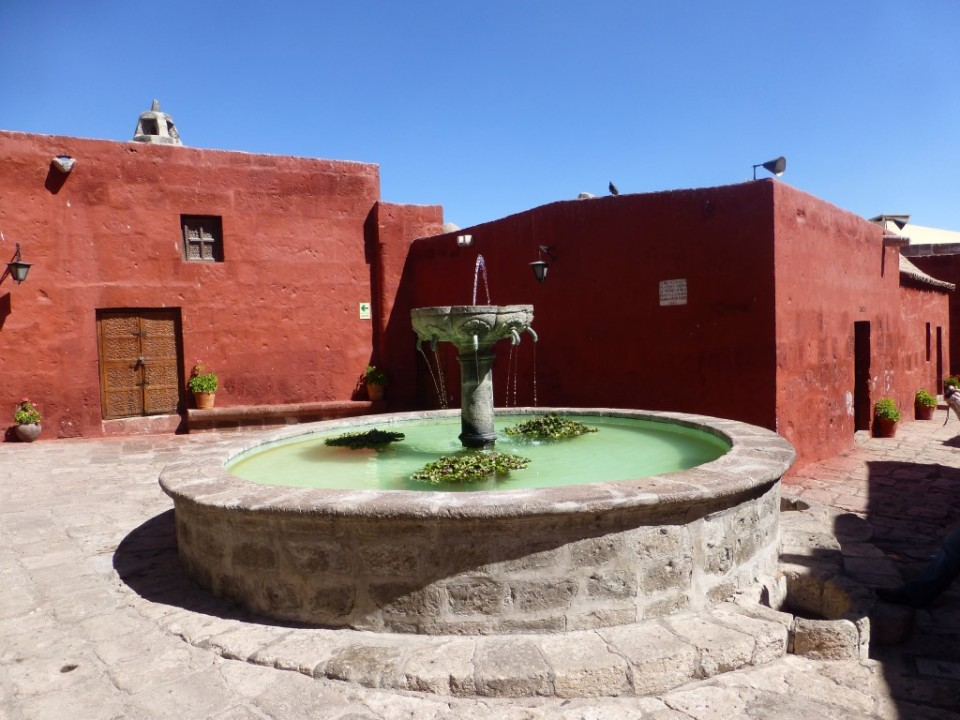 Fountain inside Santa Catalina Monestary
